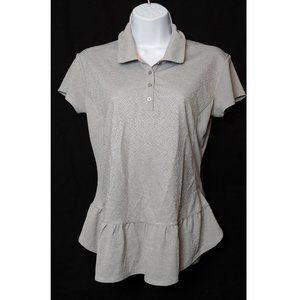 Climachill Peplum Golf Polo Shirt Gray